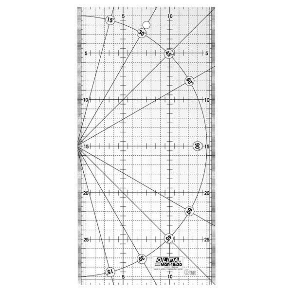 Quilt Patchwork-Lineal-15x30cm Schneidelineal Rollschneider