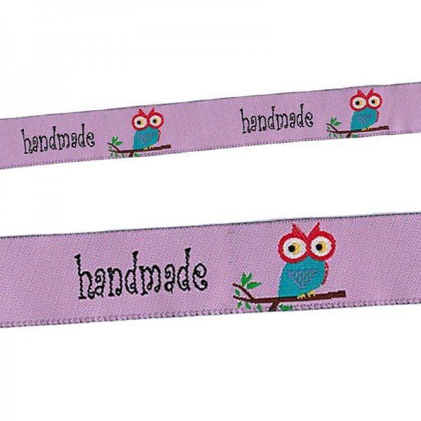 Webband Etikett Handmade