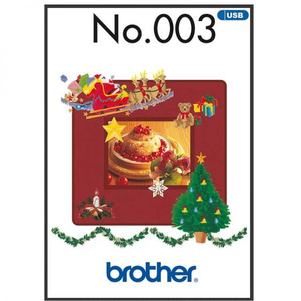 Brother images de broderie d'hiver - USB 003