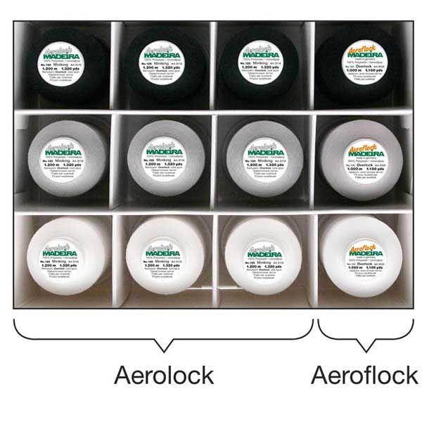 Madeira Aerolock Box 12 bobines