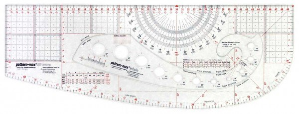 Patternmax 50cm Schnittkonstruktion Lineal Mode Schnitt