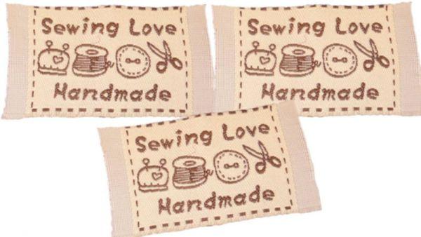 Etikett Sewing Love Handmade