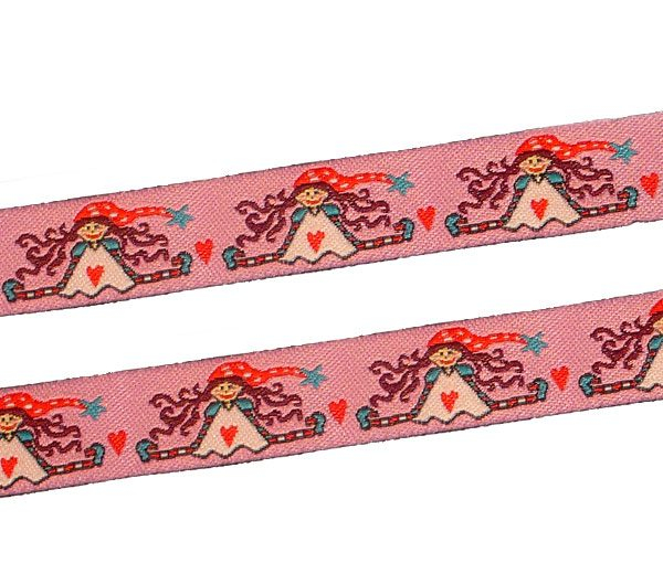 Webband 16mm Rosa Mädchen