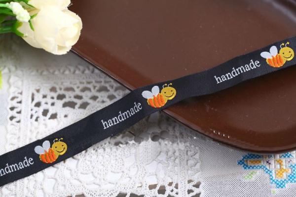 "Etikette ""handmade"" Biene, 3er"